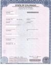 Birth Certificate Sample - Colorado